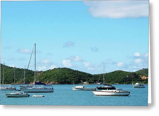 Clouds Greeting Cards - Caribbean - Peaceful Sea St. Thomas Greeting Card by Susan Savad