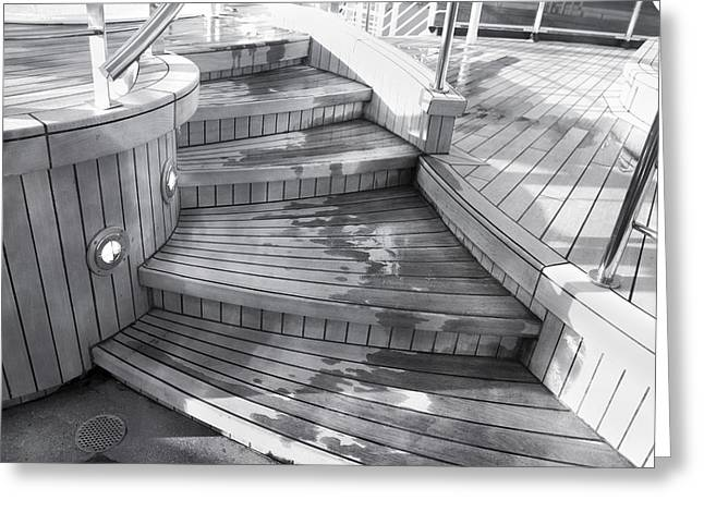 Wooden Ship Greeting Cards - Caribbean Princess Steps Greeting Card by Betsy A  Cutler