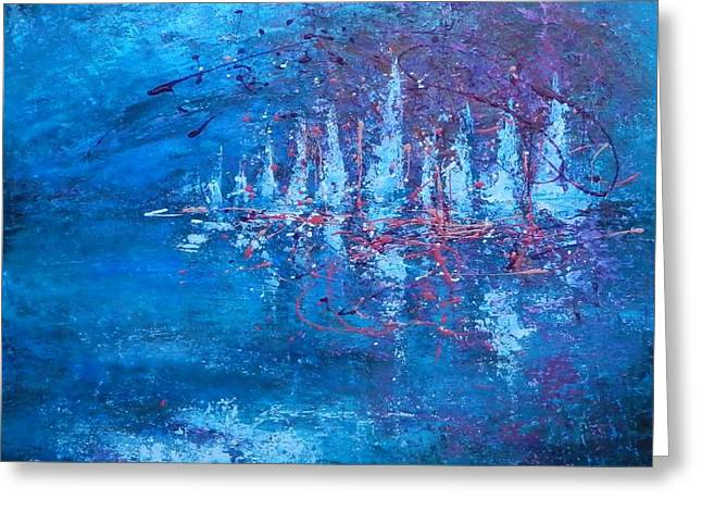 Recently Sold -  - Ocean Sailing Greeting Cards - Caribbean Sail Greeting Card by Dan Campbell