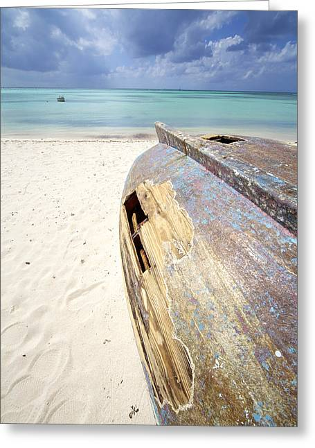 David Letts Greeting Cards - Caribbean Shipwreck Greeting Card by David Letts