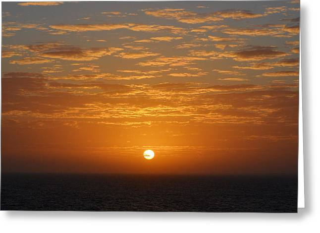 Ocean Vista Greeting Cards - Caribbean Sunrise and Clouds over Cozumel Mexico Square Format Greeting Card by Shawn O