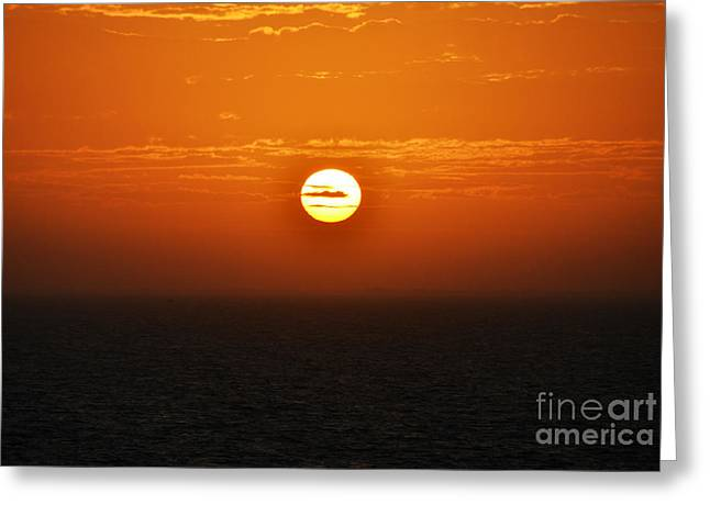Amazing Sunset Greeting Cards - Caribbean Sunrise over Cozumel Mexico Greeting Card by Shawn O