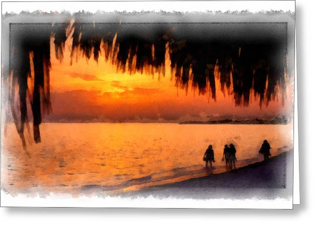 Cuban Greeting Cards - Caribbean Sunset II Greeting Card by Dawn Currie