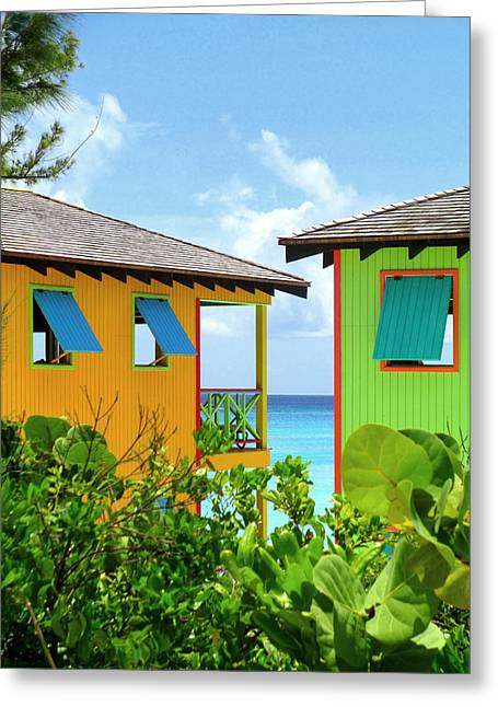 Caribbean Corner Greeting Cards - Caribbean Village Greeting Card by Randall Weidner