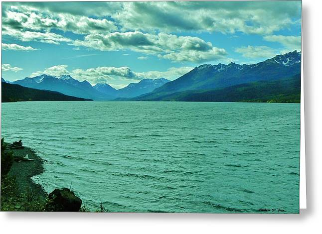 Copyright Protected. Greeting Cards - Cariboo Lake View Greeting Card by Barbara St Jean