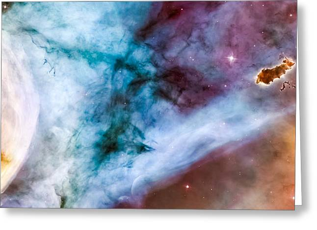 Star Nursery Greeting Cards - Carina Nebula Details - The Caterpillar Greeting Card by Marco Oliveira