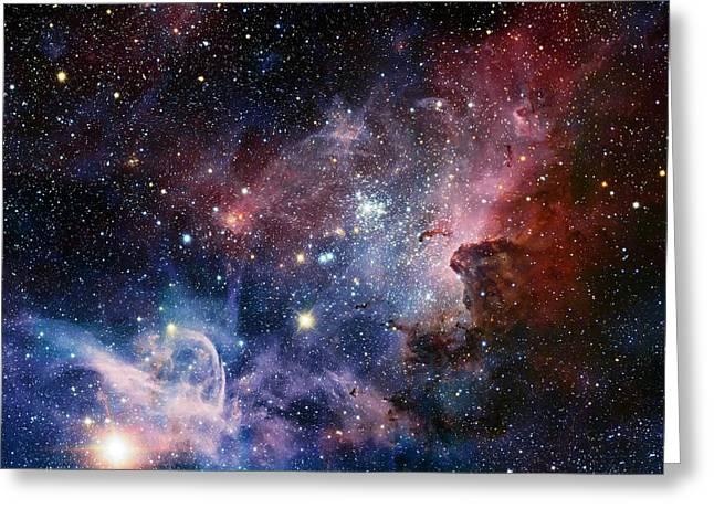 Carina Nebula Greeting Card by Eso/t. Preibisch