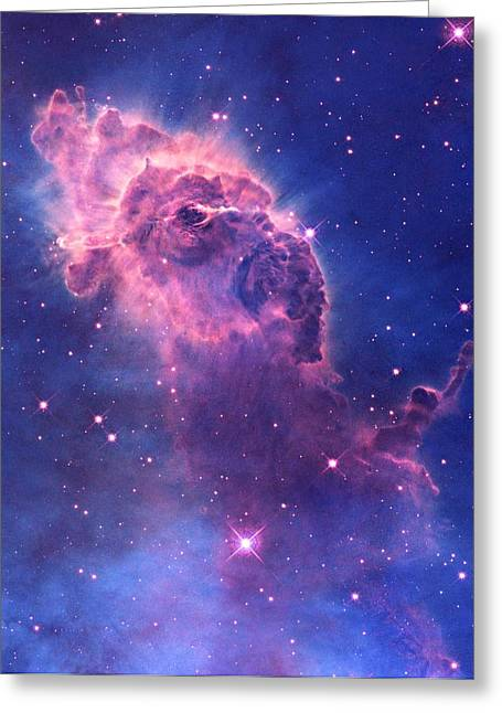 Interstellar Space Mixed Media Greeting Cards - Carina Nebula Greeting Card by L Brown