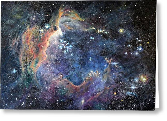 Marie Green Greeting Cards - Carina Nebula Greeting Card by Marie Green