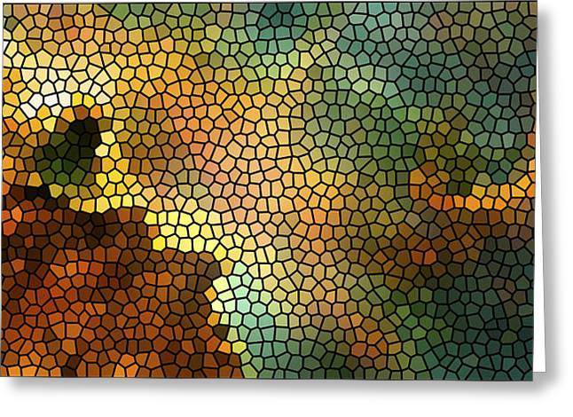 Carina Nebula Mosaic  Greeting Card by The  Vault - Jennifer Rondinelli Reilly