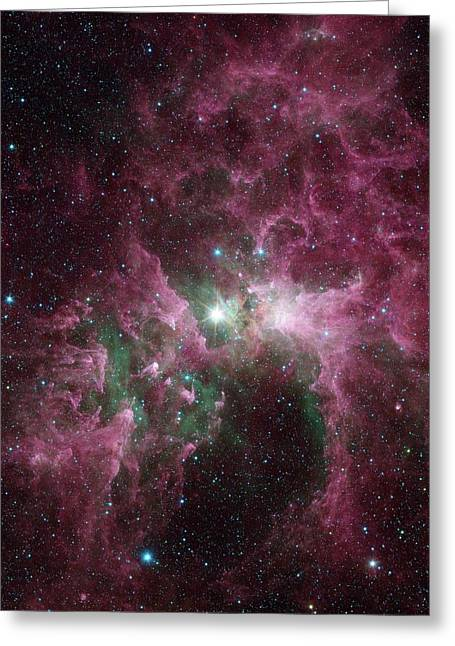 Carina Nebula Greeting Card by Nasa/jpl-caltech