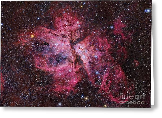 Colorful Cloud Formations Greeting Cards - Carina Nebula Greeting Card by Roberto Colombari