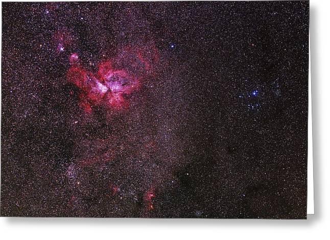 Carina Nebula Greeting Cards - Carina nebula Greeting Card by Science Photo Library