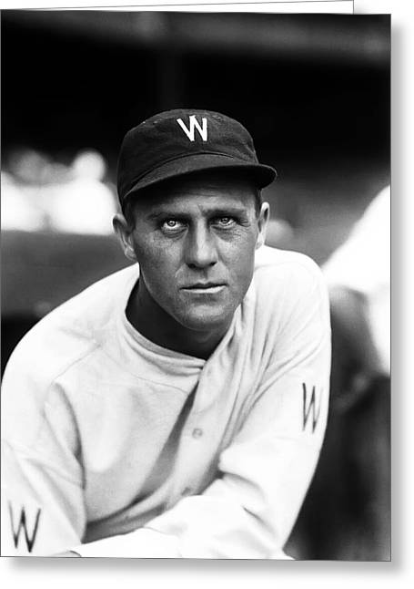 Washington Baseball Greeting Cards - Carl Reynolds Greeting Card by Retro Images Archive