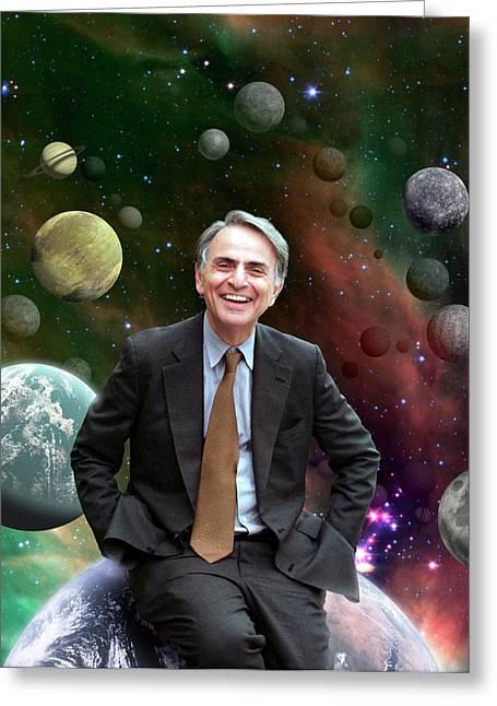 Carl Sagan Greeting Card by Nasa/jpl-caltech