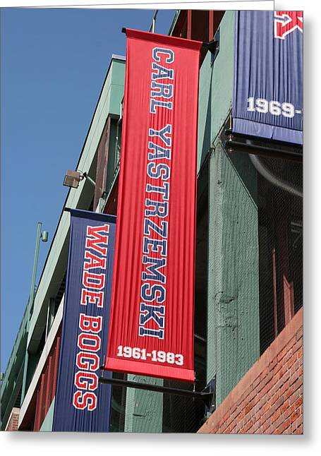 Carl Yastrzemski Greeting Cards - Carl Yastrzemski Banner Greeting Card by Kathy Hutchins