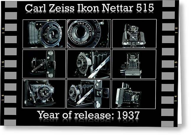 Reflex Greeting Cards - Carl Zeiss Ikon Nettar 515 set Greeting Card by Toppart Sweden