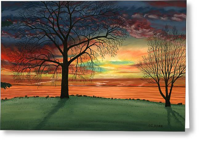 Spectacular Pastels Greeting Cards - Carlas Sunrise Greeting Card by George Burr