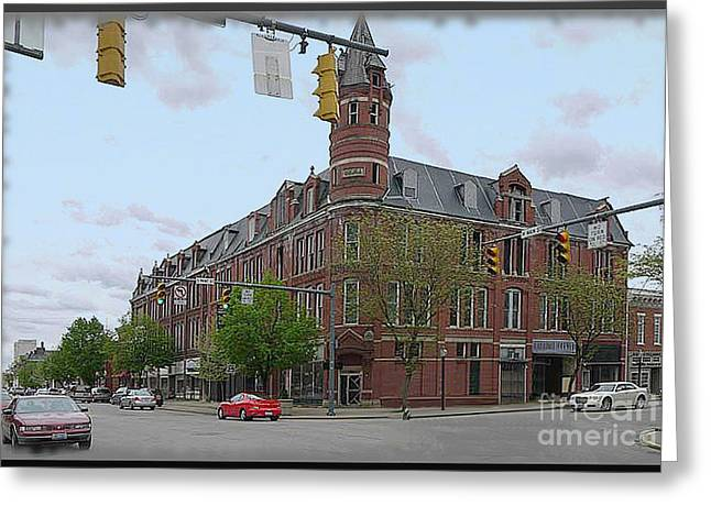 Recently Sold -  - Main Street Greeting Cards - Carlisle Building -  A Chillicothe Landmark Greeting Card by Charles Robinson