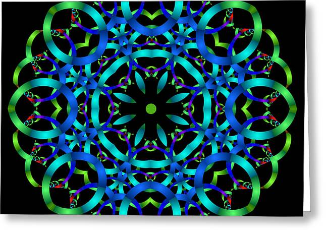 Fractal Spiritual Framed Prints Greeting Cards - Carlo and Julia Mandala Greeting Card by Ester  Rogers