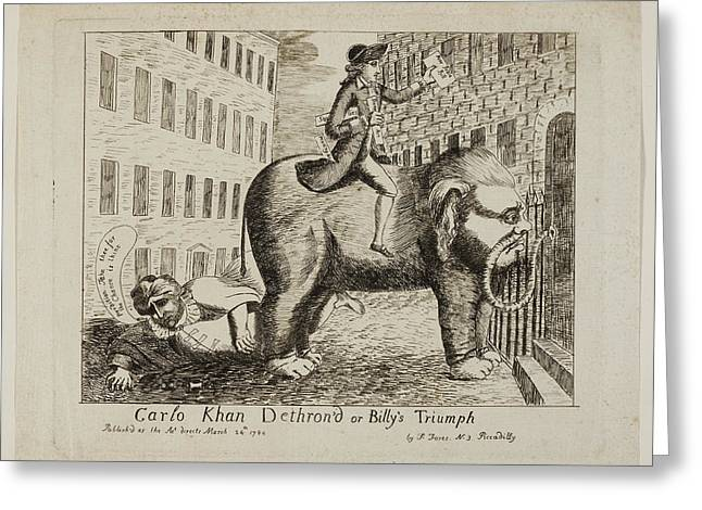 Carlo Khan Dethron'd Or Billy's Triumph Greeting Card by British Library