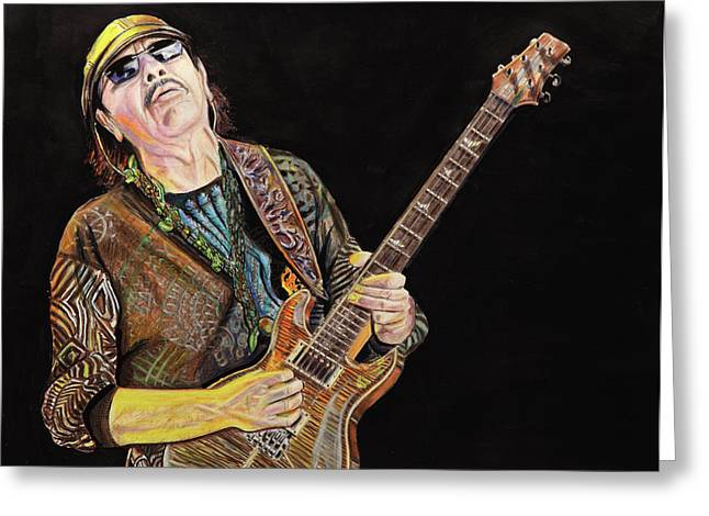 Carlos Greeting Cards - Carlos Santana Greeting Card by Chris Benice