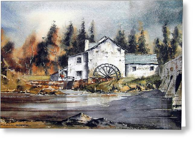 Carlow Rathvilly Mill Greeting Card by Val Byrne