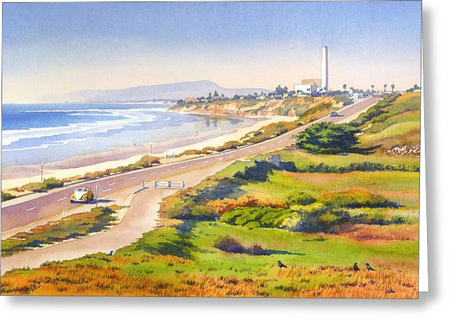 Pacific Ocean Greeting Cards - Carlsbad Rt 101 Greeting Card by Mary Helmreich