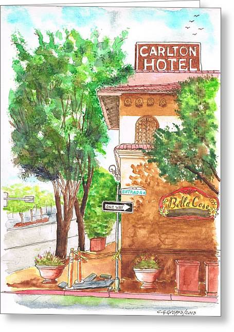 Atascadero Greeting Cards - Carlton Hotel en Atascadero - California Greeting Card by Carlos G Groppa
