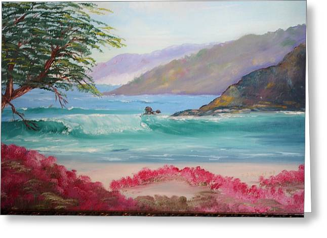 Seacape Paintings Greeting Cards - Carmel By the Sea. CA. Greeting Card by James Higgins
