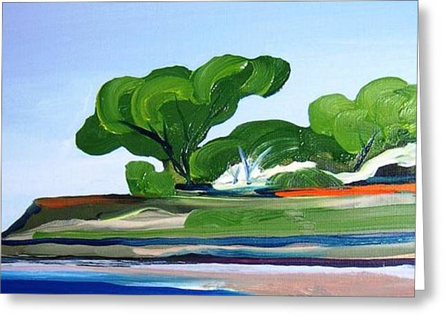 Abstract Beach Landscape Greeting Cards - Carmel by the Sea Greeting Card by Rebecca Lou Mudd