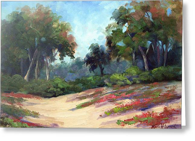 Carmel Dunes Greeting Card by Karin  Leonard