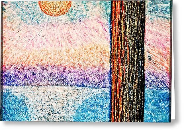 Seurat Greeting Cards - Carmel Highlands Sunset Greeting Card by Joseph J Stevens