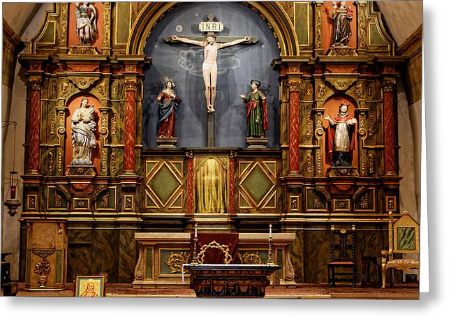 Holy Week Greeting Cards - Carmel Mission Chapel Greeting Card by Scott Hill