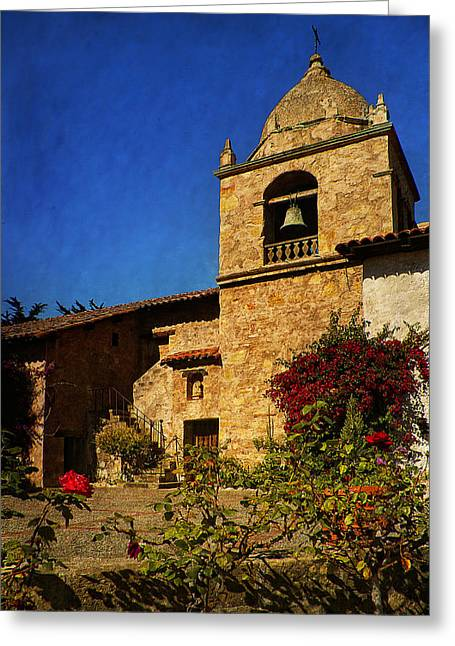 Buildings By The Sea Photographs Greeting Cards - Carmel Mission Greeting Card by Priscilla Burgers