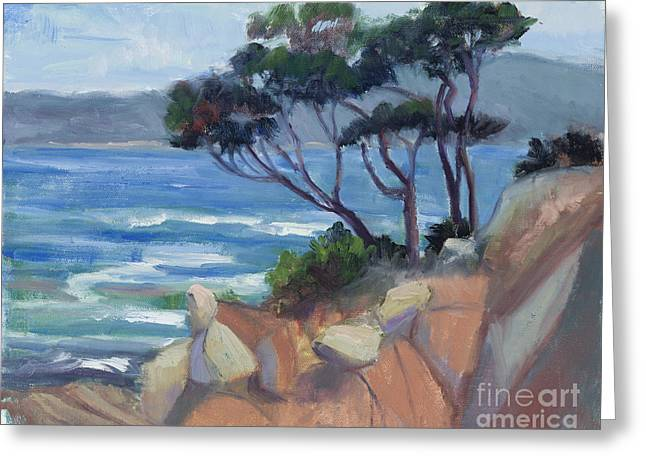Point Lobos Greeting Cards - Carmel View from Point Lobos Greeting Card by Suzanne Elliott