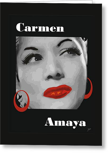 Barcelona Drawings Greeting Cards - Carmen Amaya  Greeting Card by Joaquin Abella