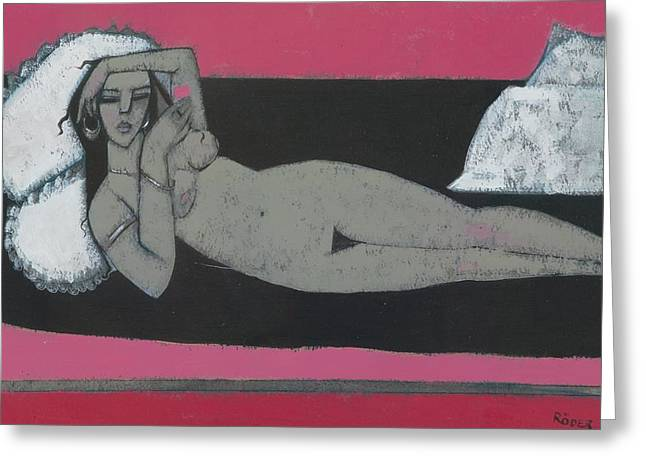 Carmena Resting Greeting Card by Endre Roder
