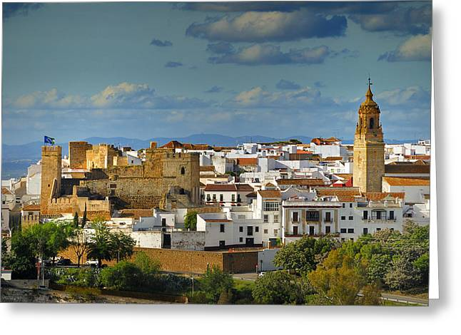 Carmona Greeting Cards - Carmona castle Greeting Card by Guido Montanes Castillo