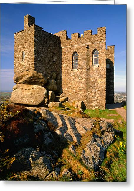 Camborne Greeting Cards - Carn Brea Castle Greeting Card by Darren Galpin