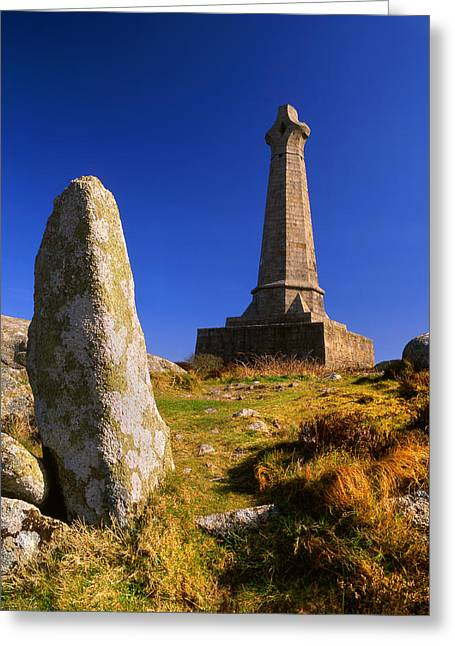 Camborne Greeting Cards - Carn Brea Memorial Greeting Card by Darren Galpin