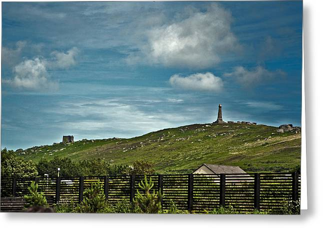 Ley Lines Greeting Cards - Carn Brea Greeting Card by Paul Howarth