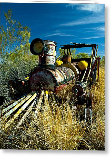 Abandond Greeting Cards - Carnanival Ride Greeting Card by Allechant Photo