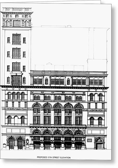 Symphony Hall Greeting Cards - Carnegie Hall, 1896 Greeting Card by Granger