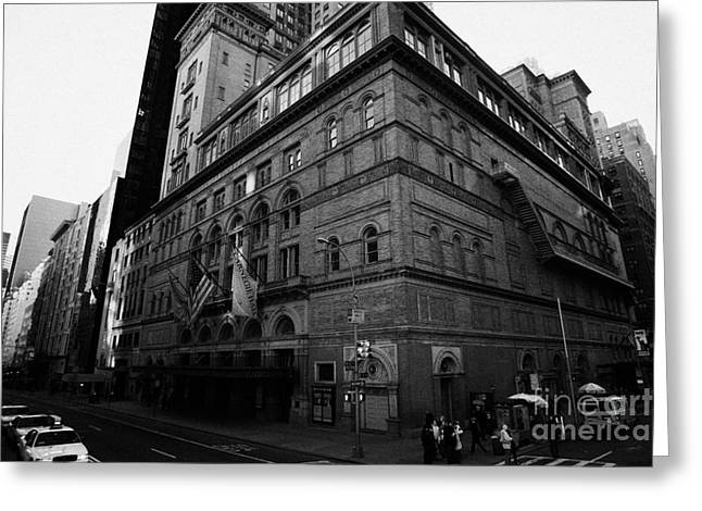 Manhaten Greeting Cards - Carnegie Hall On Corner Of West 57th St And 7th Avenue New York City Greeting Card by Joe Fox