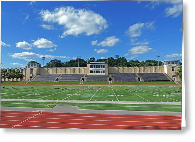 Mellon Fine Art Greeting Cards - Carnegie Mellon University Football Field Greeting Card by Cityscape Photography