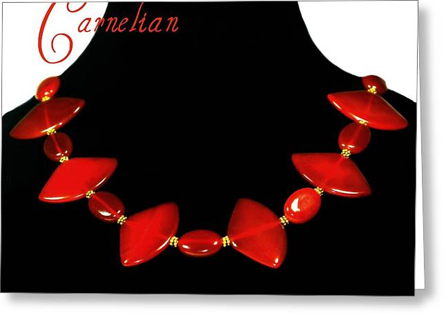 Carnelian Greeting Card by Diana Angstadt