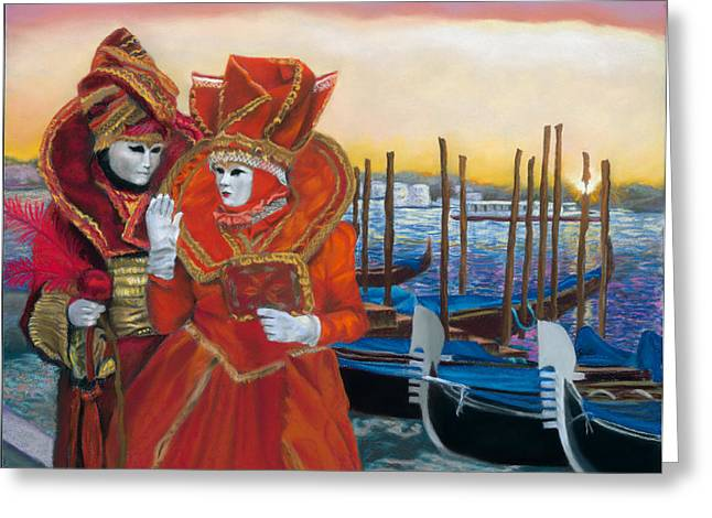 Glove Pastels Greeting Cards - Carnevale Sunrise Greeting Card by Kelly Borsheim