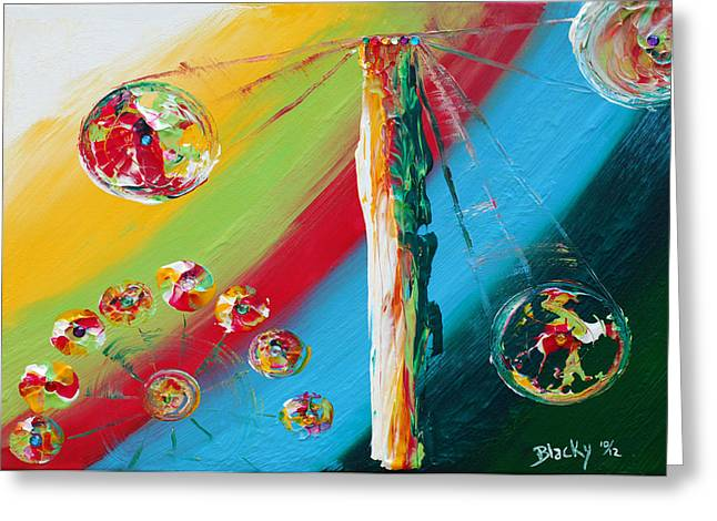 Abstract Expressionist Greeting Cards - Carnival Greeting Card by Donna Blackhall