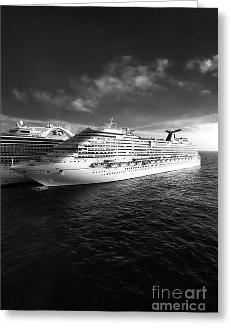 Cruising Greeting Cards - Carnival Dream Cruise Ship Greeting Card by Amy Cicconi